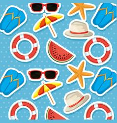 summer holidays set icons pattern vector image
