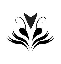 Tattoo flower vector