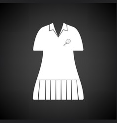 tennis woman uniform icon vector image
