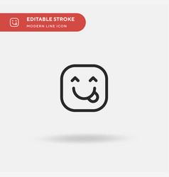 Tongue simple icon symbol vector