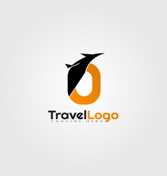 Travel agent logo design with initials o letter vector