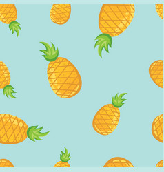 Tropical fruit pineapples pattern vector