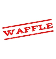 Waffle Watermark Stamp vector