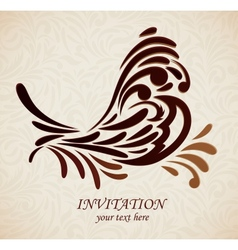 Background with stlized bird vector image