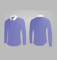 blue shirt white collar vector image vector image