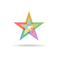 Business flat logo design concept colorful stars vector image