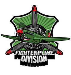 Fighter plane division badge vector