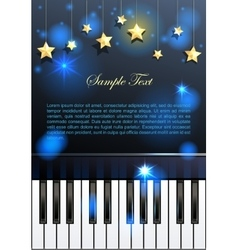 Piano and stars vector image