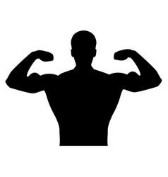 bodybuilder it is the black color icon vector image vector image