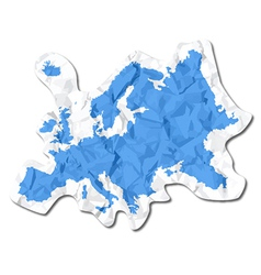Crumbled map vector image vector image