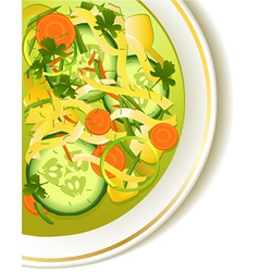 Cucumber soup vector image vector image