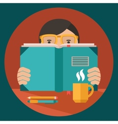 Man reading book vector image vector image