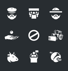 set of agricultural sanctions icons vector image vector image