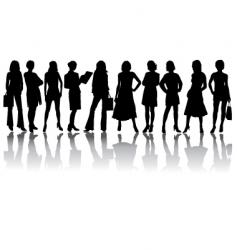 silhouettes woman vector image vector image