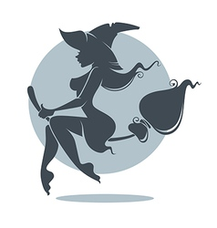 young attractive witch vector image vector image