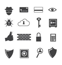 big data icon computer criminal icons set vector image