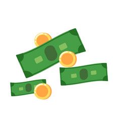 cash icon in flat design vector image