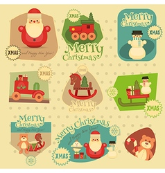 Xmas Stickers Set vector image vector image