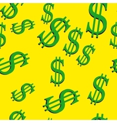 Dollar signs seamless vector image