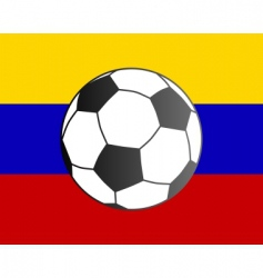 flag of Venezuela and soccer ball vector image