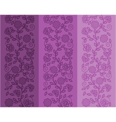 Seamless floral patter vector image