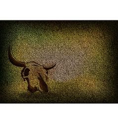 texture grain dark with skull vector image
