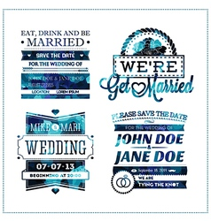 Wedding invitation geo vector image vector image