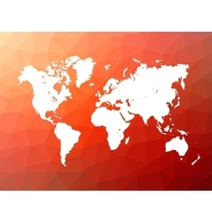World map silhouette on low poly background vector image vector image