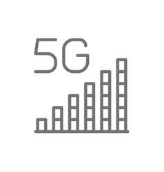 5g internet signal bar line icon vector image