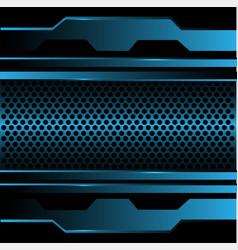 Abstract blue circle mesh metal in black design vector