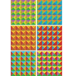 abstract square patterns vector image