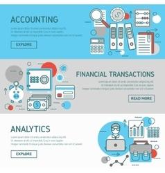 Accountant Horizontal Banners Set vector