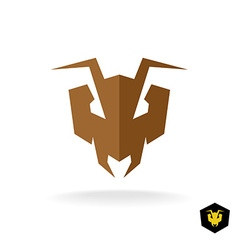Ant head logo Serious face of the predator bulldog vector image
