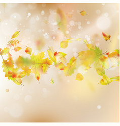 Autumn leaves theme background eps 10 vector