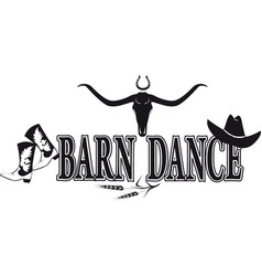 Barn dance banner vector