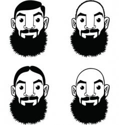 beards vector image