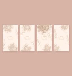 Beautiful beige stories background template vector