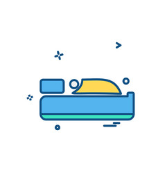 bed icon design vector image