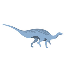 Blue herbivorous dinosaur of jurassic period vector