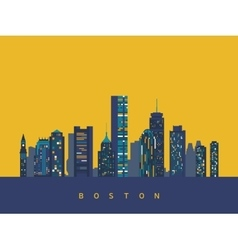 Boston abstract skyline vector