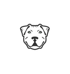 Bulldog face designs vector