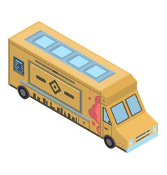 burger street truck icon isometric style vector image