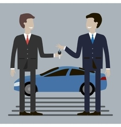 Businessman Buying Car vector image