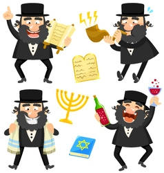 Cartoon rabbis vector