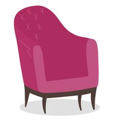 Chair coffeehouse soft sitting equipment vector