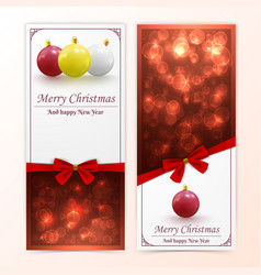 christmas baubles banners vector image
