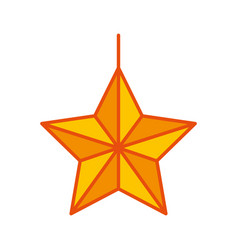 christmas star isolated icon vector image
