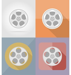 cinema flat icons 05 vector image