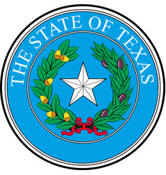 coat of arms of texas in united states vector image