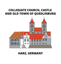 collegiate church castle and old town of vector image